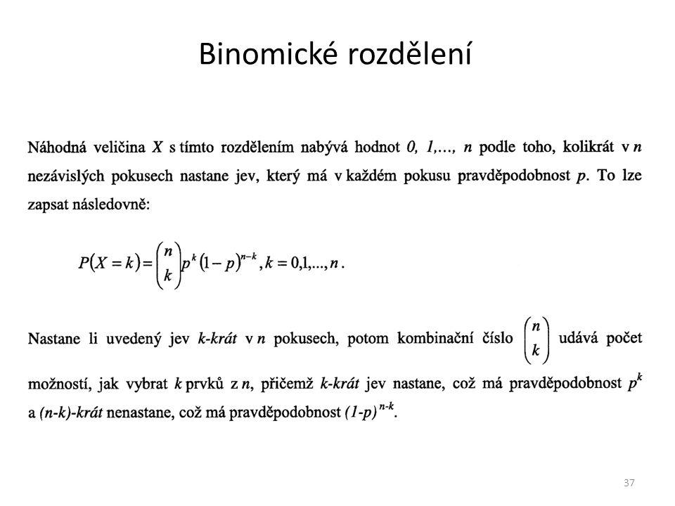 Binomické rozdělení 37