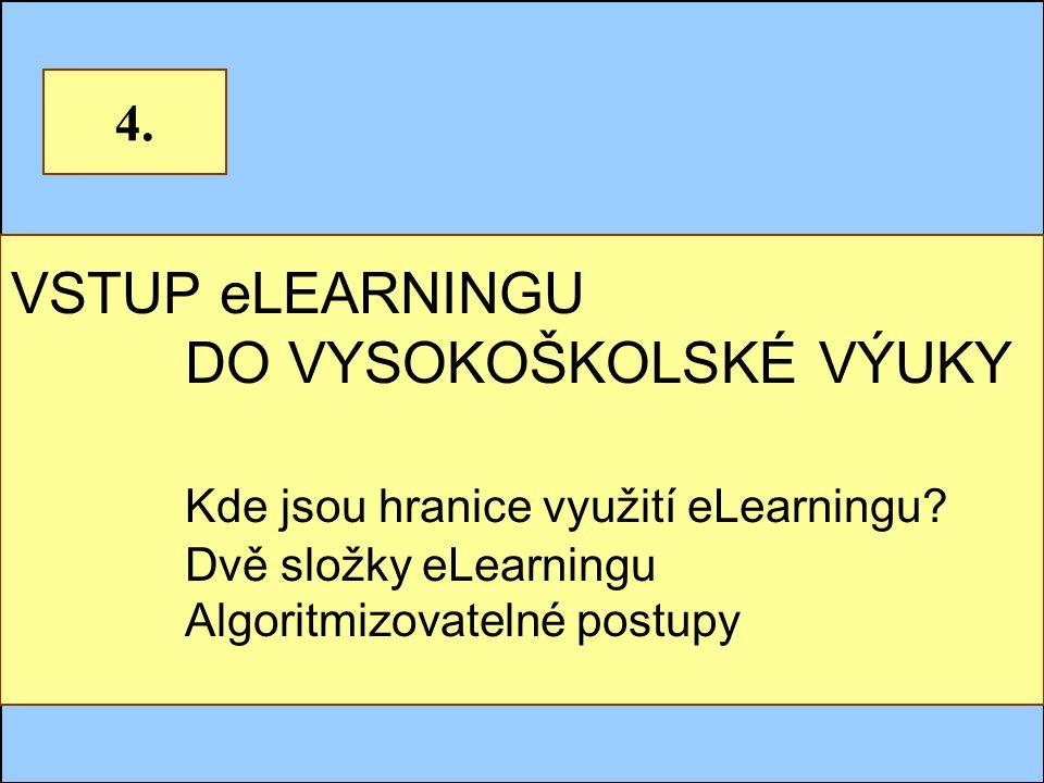 Jindřichův Hradec, 1.-3.7.2002, Danuse.Bauerova@vsb.cz18 VSTUP eLEARNINGU DO VYSOKOŠKOLSKÉ VÝUKY Kde jsou hranice využití eLearningu.