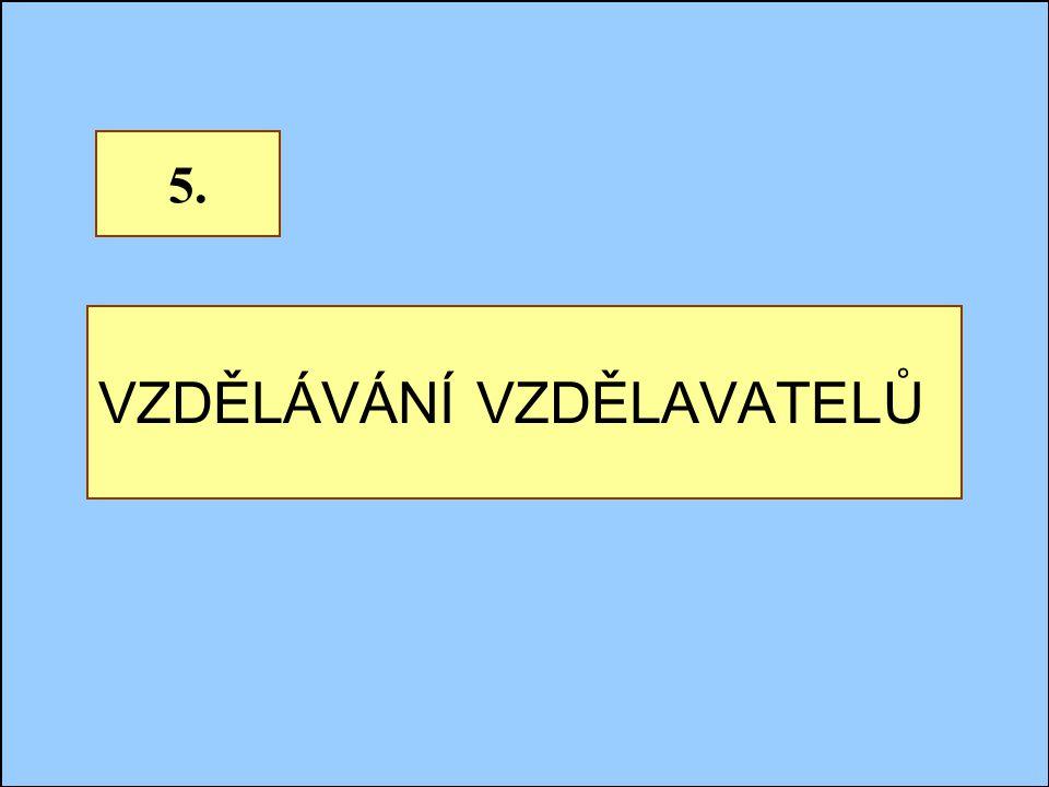 Jindřichův Hradec, 1.-3.7.2002, Danuse.Bauerova@vsb.cz29 VZDĚLÁVÁNÍ VZDĚLAVATELŮ 5.