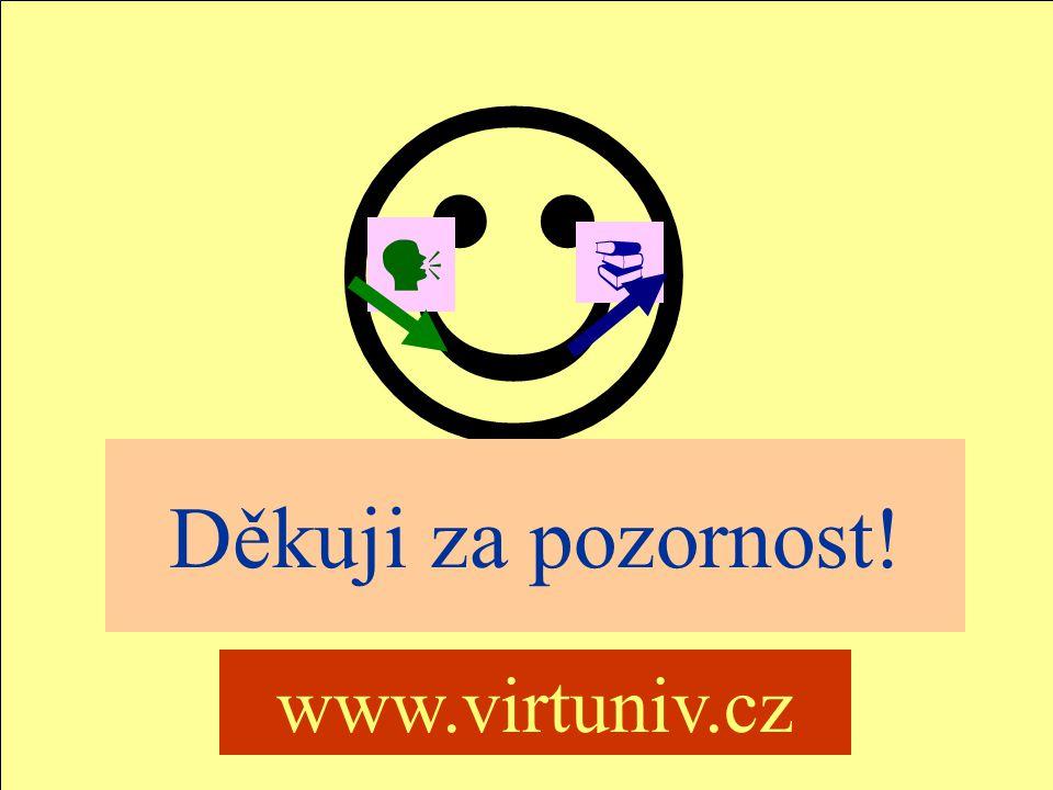 Jindřichův Hradec, 1.-3.7.2002, Danuse.Bauerova@vsb.cz33 VIRTUNIV Děkuji za pozornost! www.virtuniv.cz 