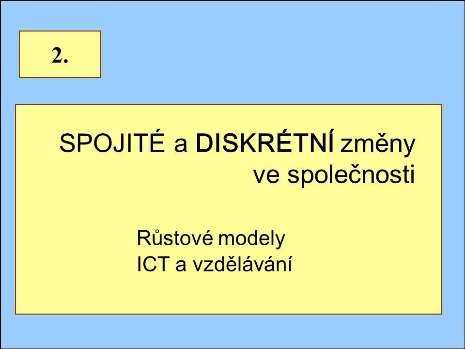 Jindřichův Hradec, 1.-3.7.2002, Danuse.Bauerova@vsb.cz8 SPOJITÉ a DISKRÉTNÍ změny ve společnosti Růstové modely ICT a vzdělávání 2.
