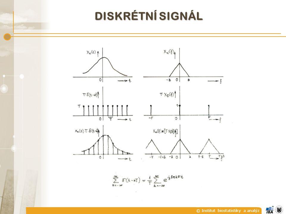 © Institut biostatistiky a analýz DISKRÉTNÍ SIGNÁL