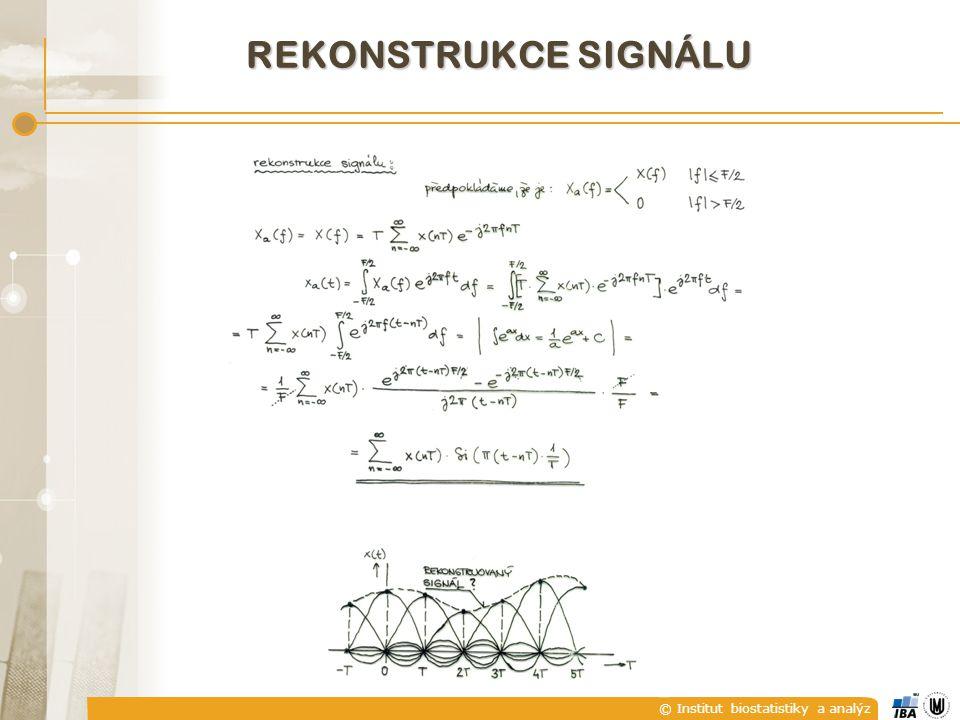 © Institut biostatistiky a analýz REKONSTRUKCE SIGNÁLU