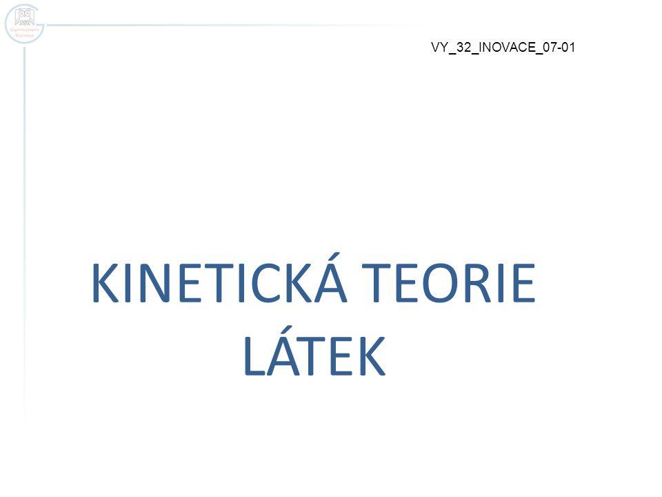 KINETICKÁ TEORIE LÁTEK VY_32_INOVACE_07-01