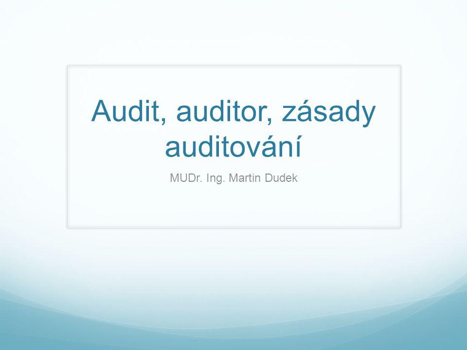 Audit, auditor, zásady auditování MUDr. Ing. Martin Dudek
