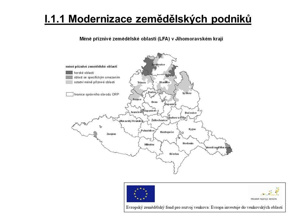 I.1.1 Modernizace zemědělských podniků