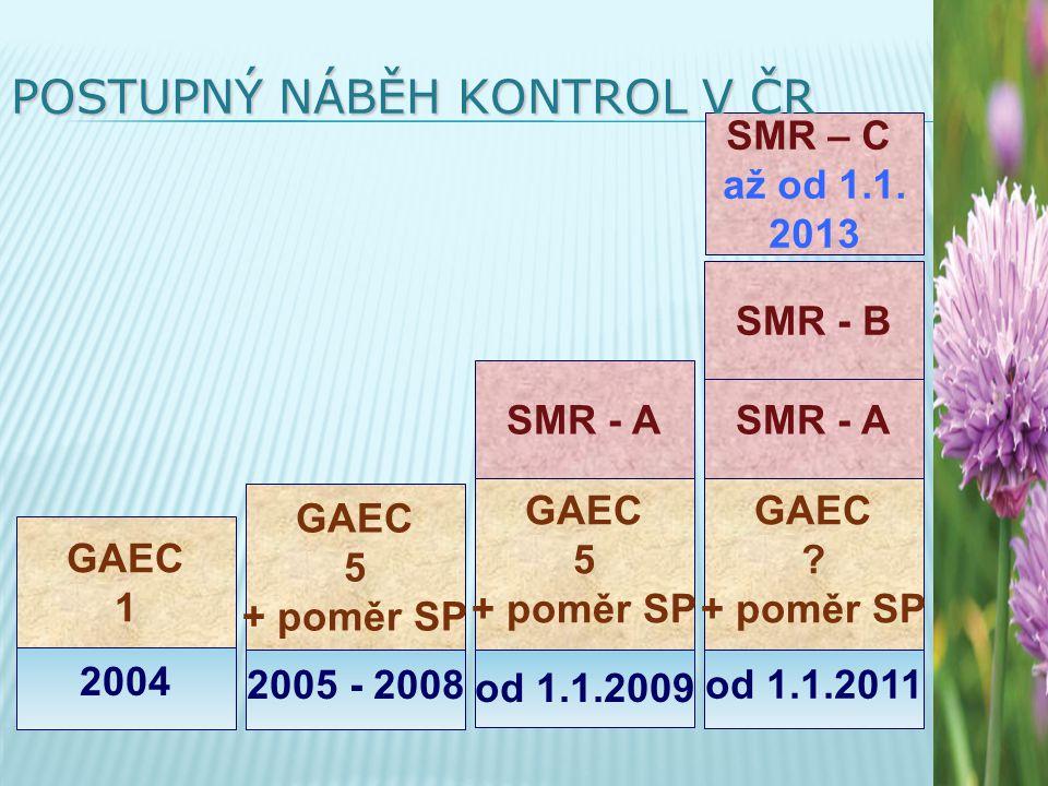od 1.1.2011 od 1.1.2009 2005 - 2008 2004 GAEC 1 GAEC 5 + poměr SP GAEC 5 + poměr SP GAEC .