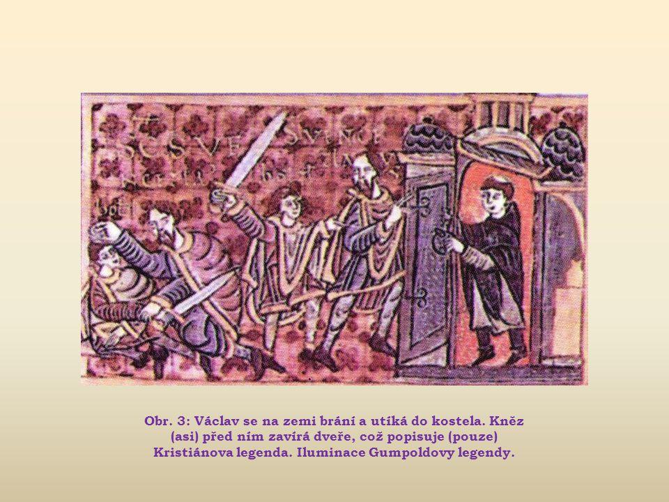 Obr.3: Václav se na zemi brání a utíká do kostela.