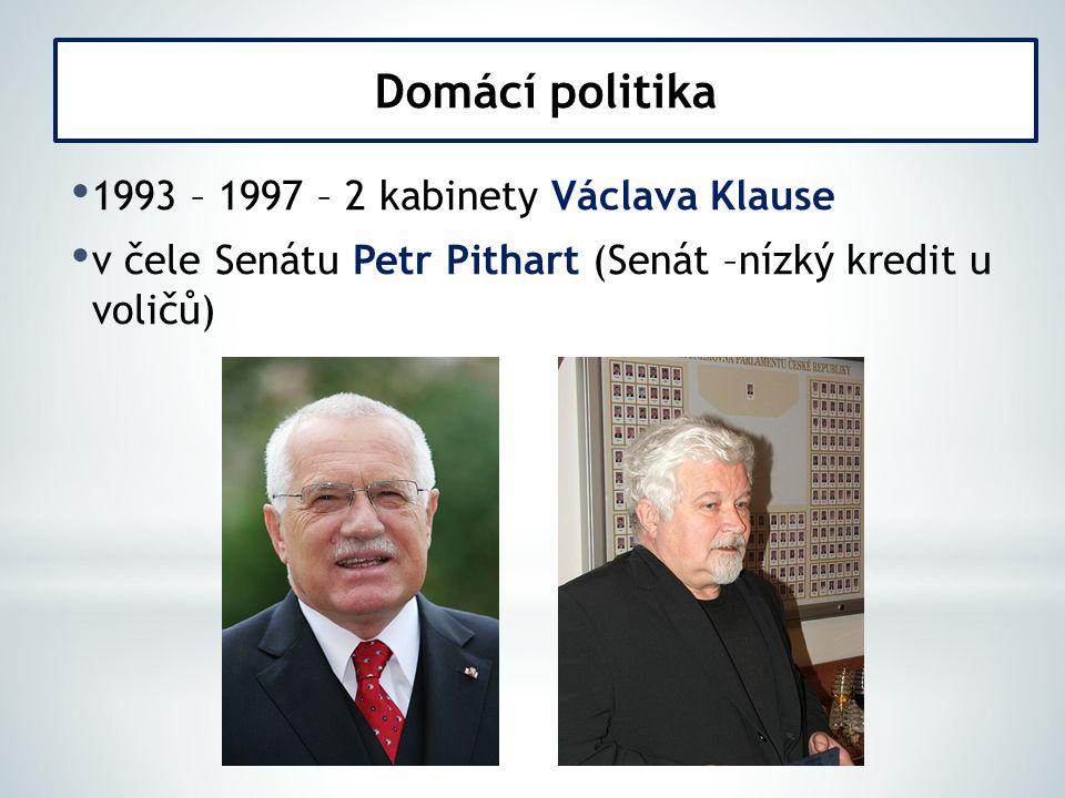 1997 nedostatek loajality ODA a KDU-ČSL (Jan Kalvoda a Josef Lux ) – více si dělali naschvály 1997 – první balíček opatření (krácení mezd, snížení důchodů a soc.
