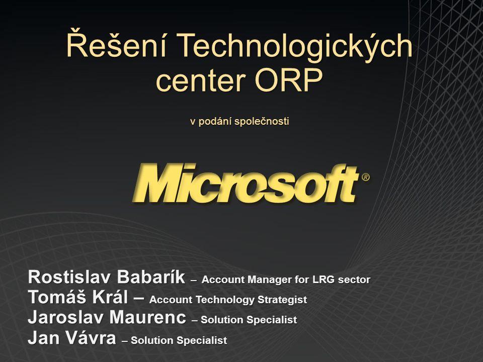 Server 1 – 4 virtuální servery OS Windows Server 2008 R2 EE SC SMSE VS1 – DB primární – MS SQL SE VS2 – App 1 primární - agendové systémy a integrace úřadu např.