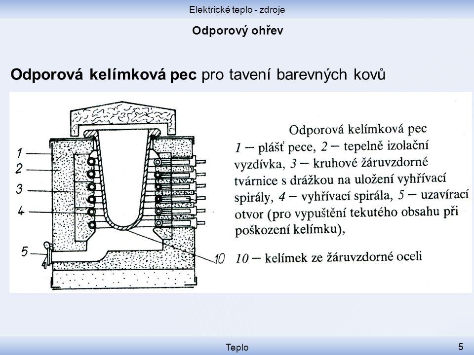 Elektrické teplo - zdroje Teplo 6 Indukční plotýnka Cívka pod hrncem je napájená vysokofrekvenčním proudem.