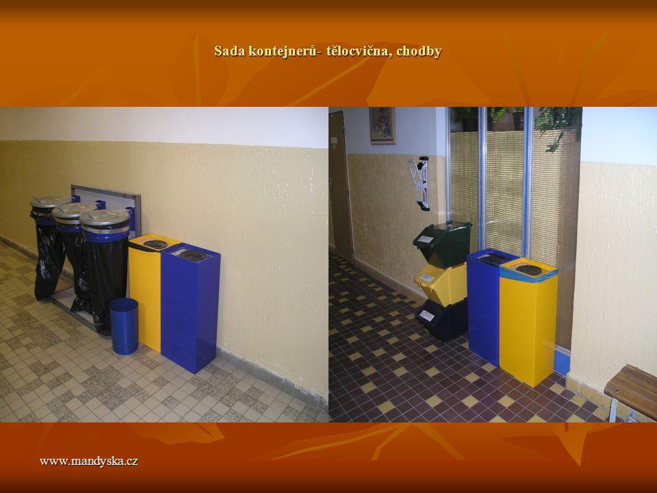 www.mandyska.cz Sada kontejnerů- tělocvična, chodby