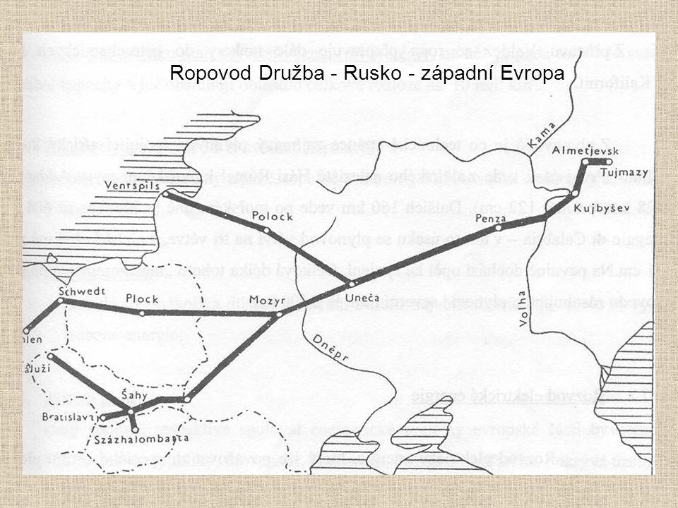 Ropovod Družba - Rusko - západní Evropa