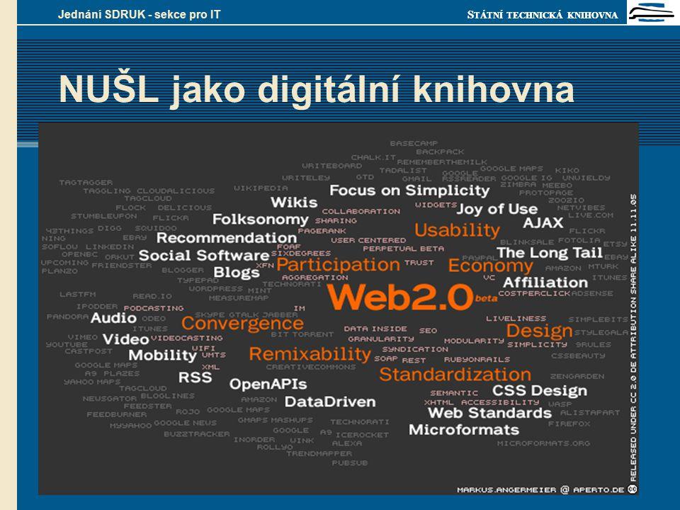 S TÁTNÍ TECHNICKÁ KNIHOVNA Olomouc, 13. února 2007 Jednání SDRUK - sekce pro IT NUŠL jako digitální knihovna 1. struktura založena na METS vazbách 2.