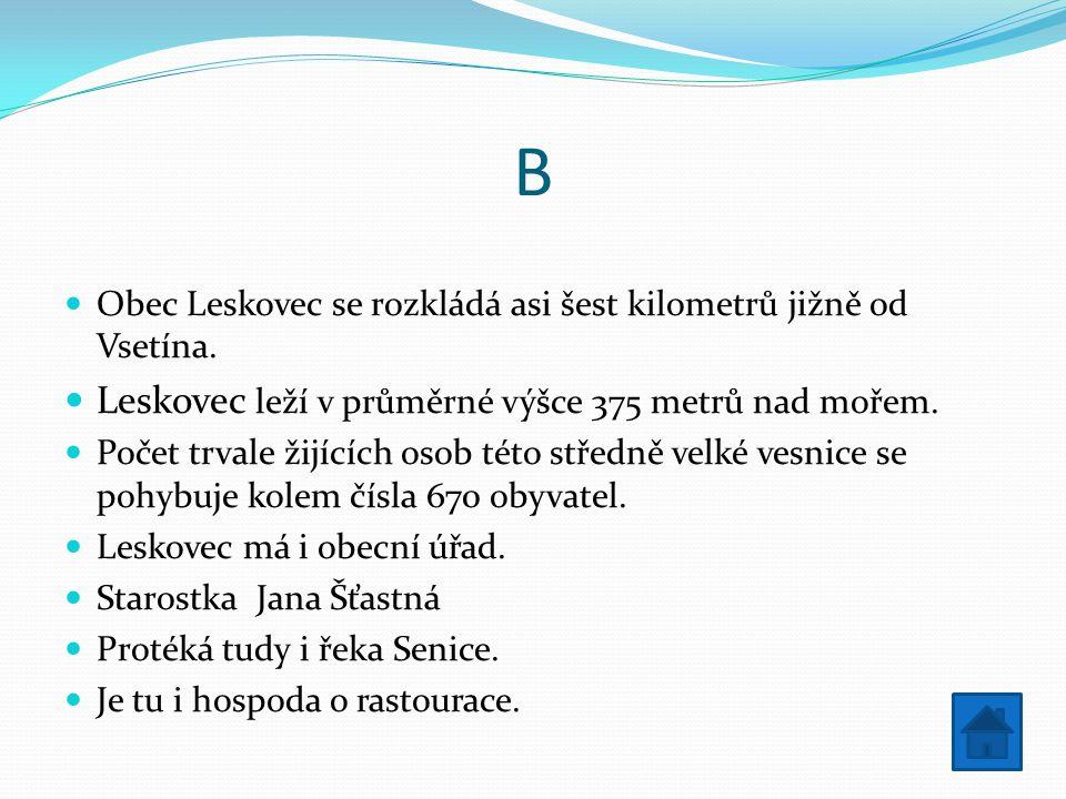 C Fotbal Obec Leskovec má tenisový kurt.