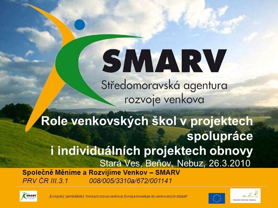 32 Program rozvoje venkova Osa IV –Místní akční skupina –Realizace místní rozvojové strategie !!.