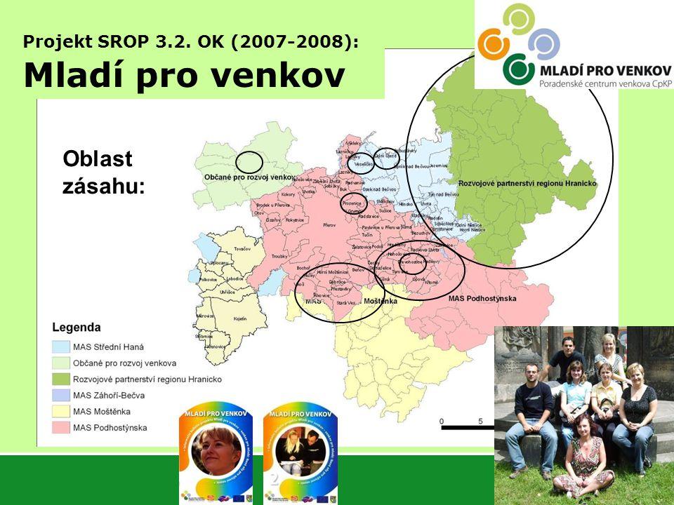 4 Oblast zásahu: Projekt SROP 3.2. OK (2007-2008): Mladí pro venkov