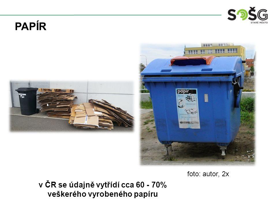 PAPÍR v ČR se údajně vytřídí cca 60 - 70% veškerého vyrobeného papíru foto: autor, 2x