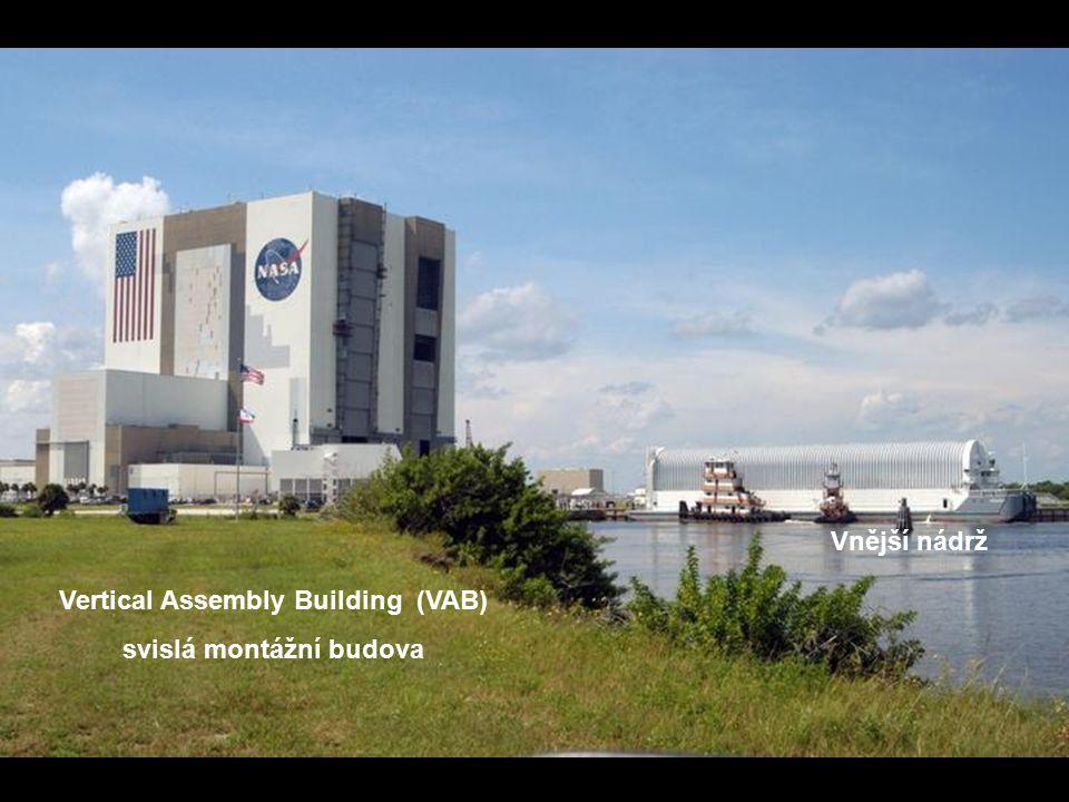 Vertical Assembly Building (VAB) svislá montážní budova Vnější nádrž