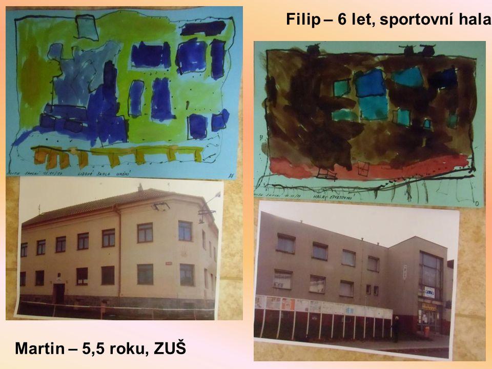 Filip – 6 let, sportovní hala Martin – 5,5 roku, ZUŠ