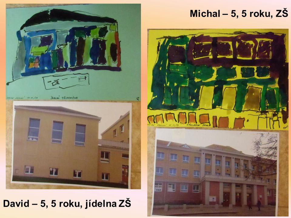 David – 5, 5 roku, jídelna ZŠ Michal – 5, 5 roku, ZŠ