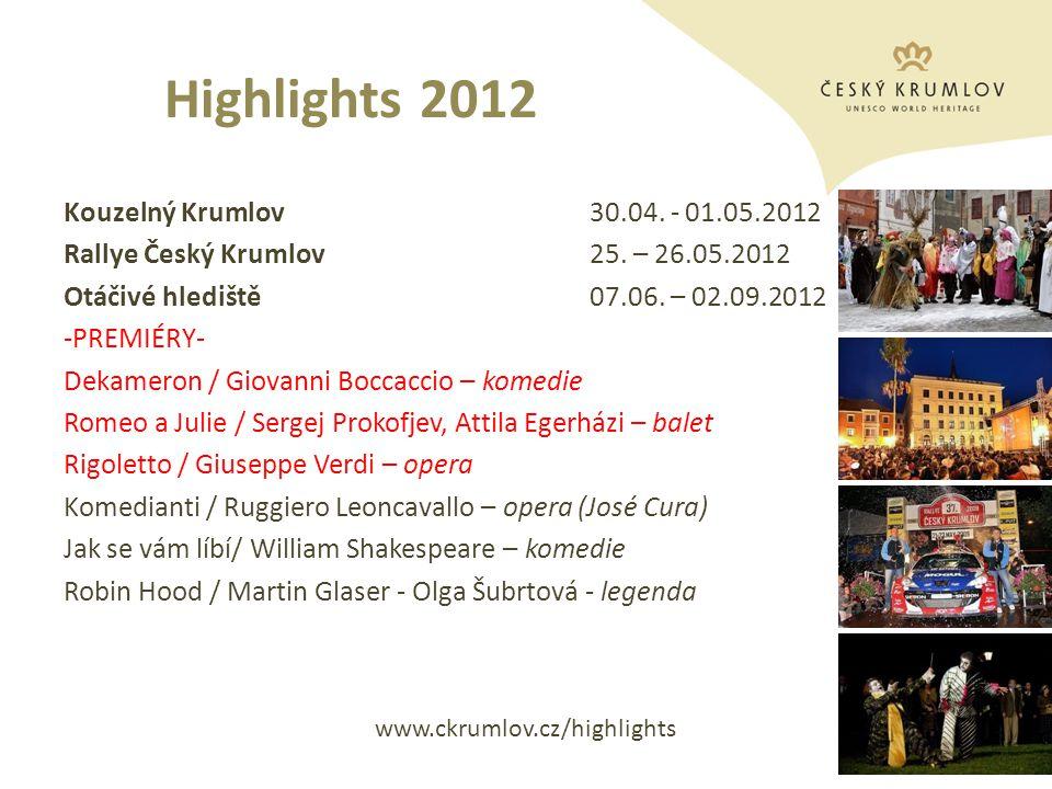 Highlights 2012 Slavnosti pětilisté růže ®22.- 23.06.2012 Festival komorní hudby29.06.