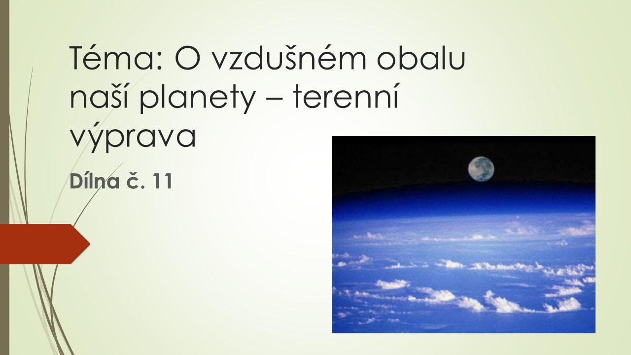 Téma: O vzdušném obalu naší planety – terenní výprava Dílna č. 11
