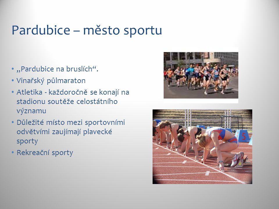 """Pardubice – město sportu """"Pardubice na bruslích ."""