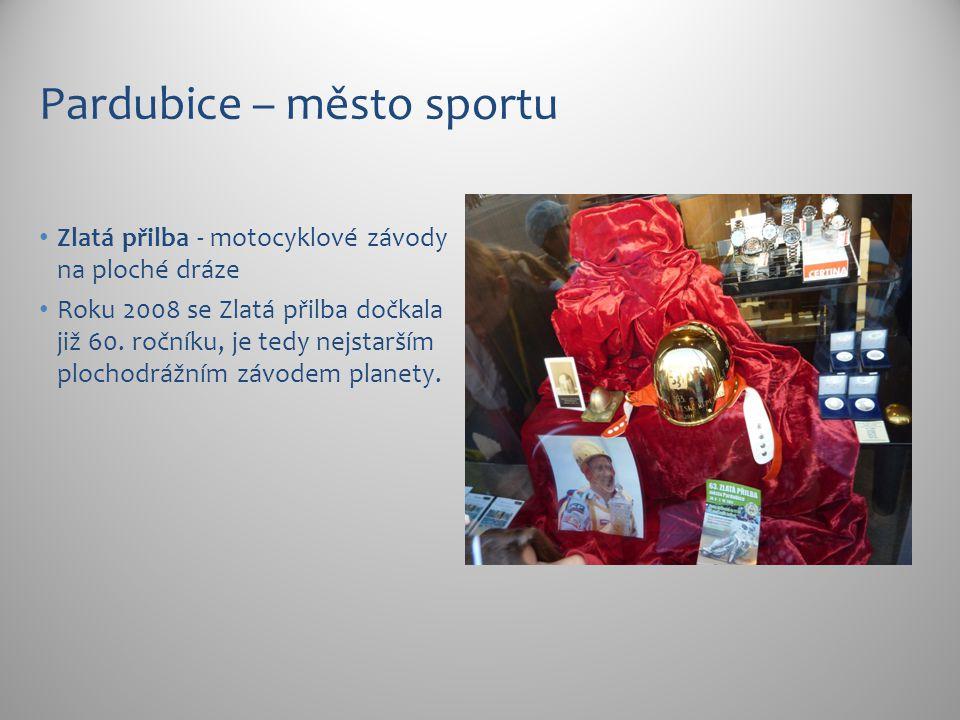 Pardubice – město sportu Zlatá přilba - motocyklové závody na ploché dráze Roku 2008 se Zlatá přilba dočkala již 60. ročníku, je tedy nejstarším ploch