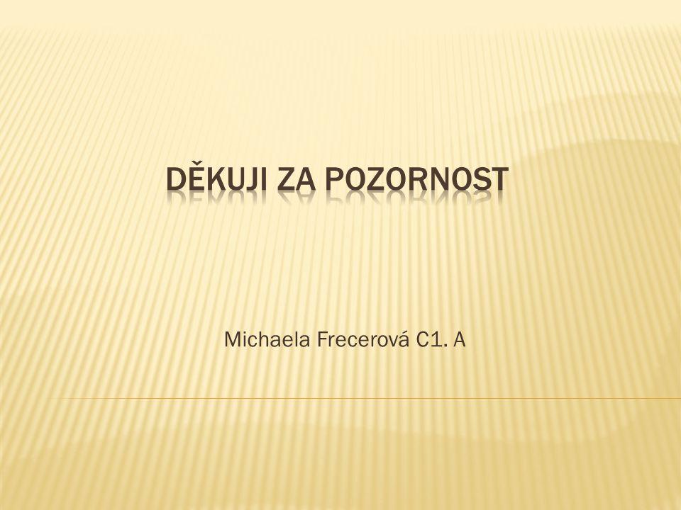 Michaela Frecerová C1. A
