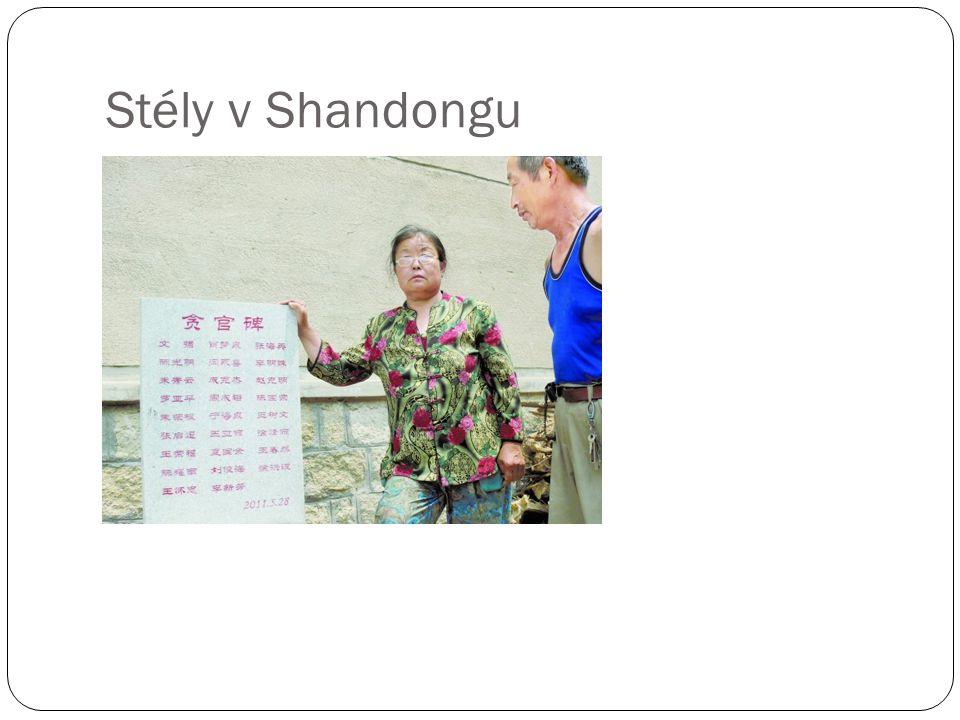 Stély v Shandongu