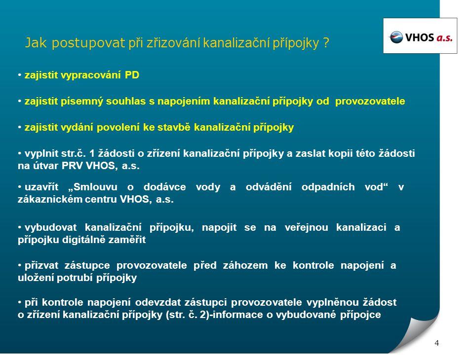 1 Žádost o zřízení kanalizační přípojky