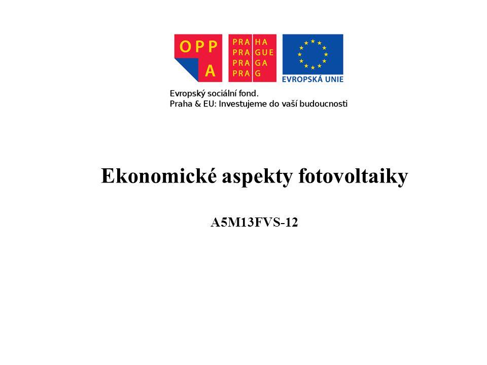 Ekonomické aspekty fotovoltaiky A5M13FVS-12