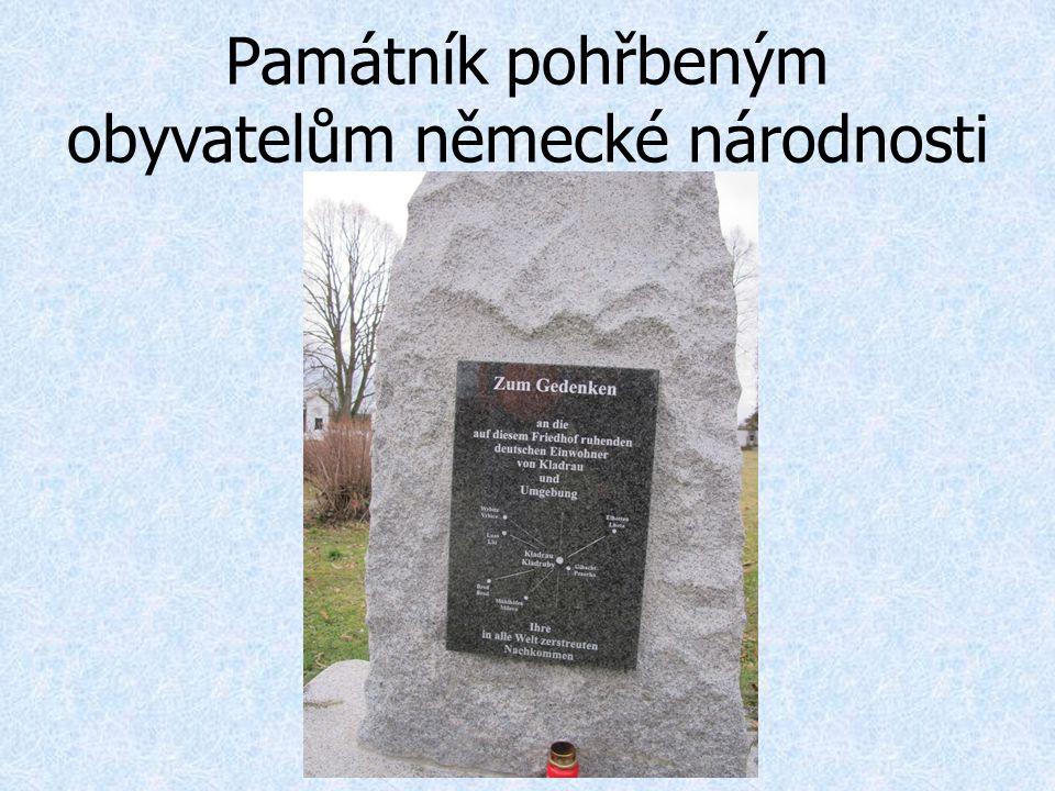 Památník pohřbeným obyvatelům německé národnosti