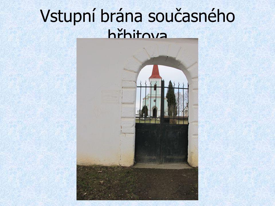 Vstupní brána současného hřbitova
