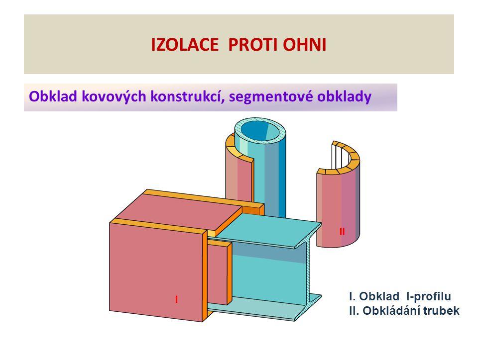 Obklad kovových konstrukcí, segmentové obklady IZOLACE PROTI OHNI I.