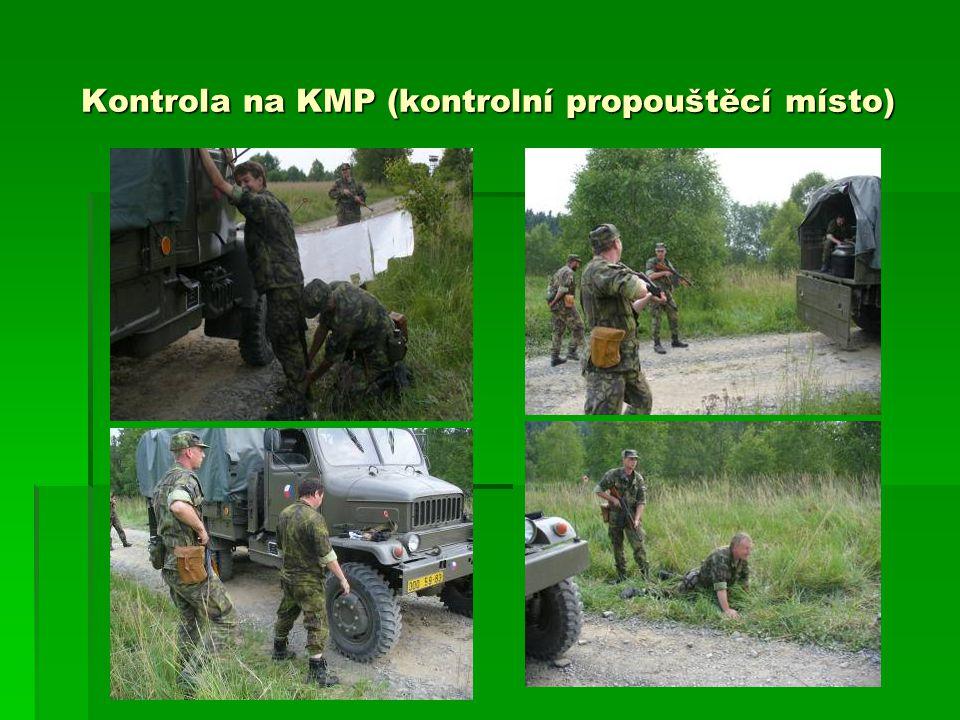 Kontrola na KMP (kontrolní propouštěcí místo)