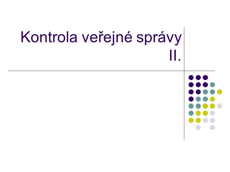 Kontrola veřejné správy II.