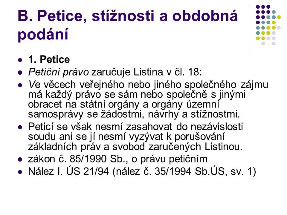 2.Stížnosti vládní vyhláška č.