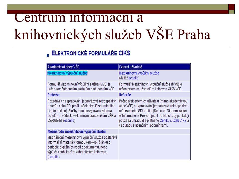 Centrum informační a knihovnických služeb VŠE Praha
