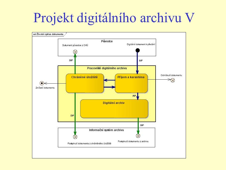 Projekt digitálního archivu V