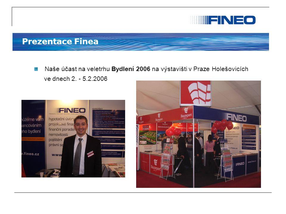 Prezentace Finea Naše účast na veletrhu Bydlení 2006 na výstavišti v Praze Holešovicích ve dnech 2. - 5.2.2006
