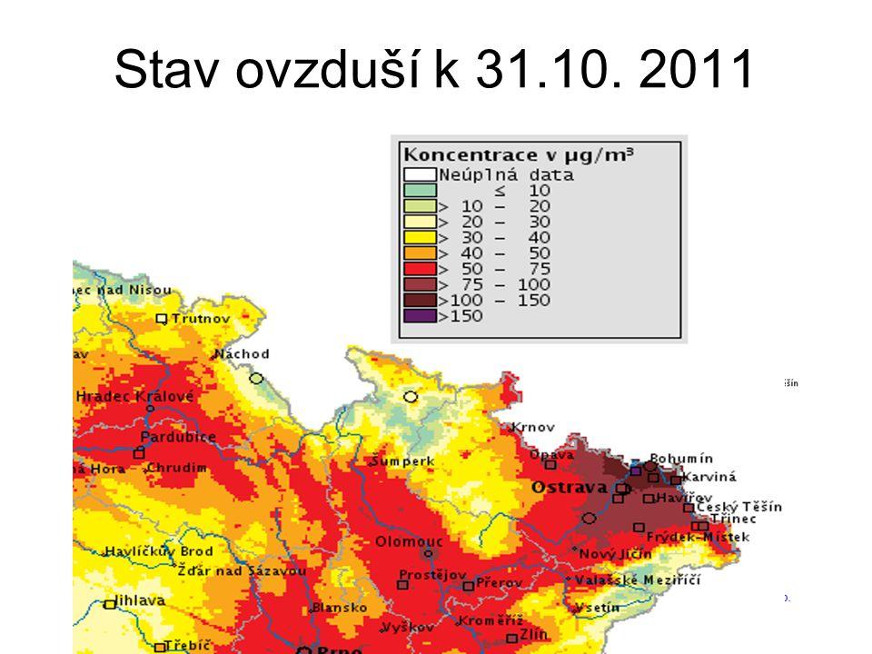 Stav ovzduší k 31.10. 2011