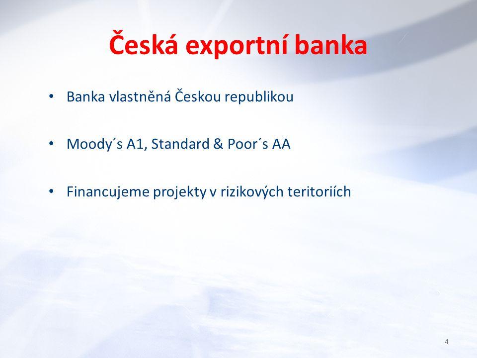 Česká exportní banka Od roku 2007 jsme ztrojnásobili objem našich obchodů 2010 stav úvěrů 57 mld.