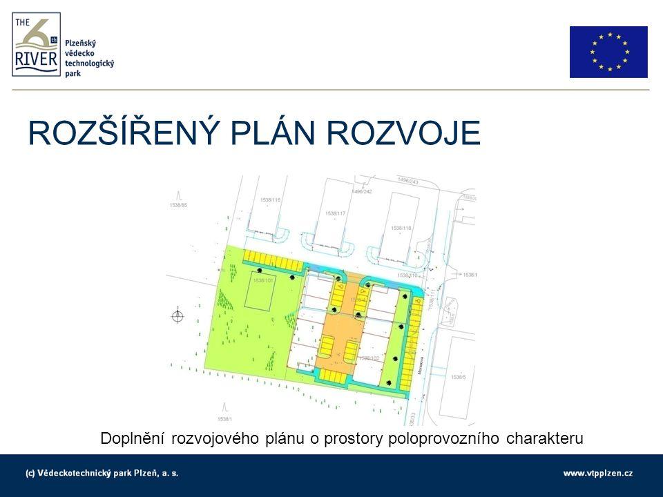 ROZŠÍŘENÝ PLÁN ROZVOJE Doplnění rozvojového plánu o prostory poloprovozního charakteru