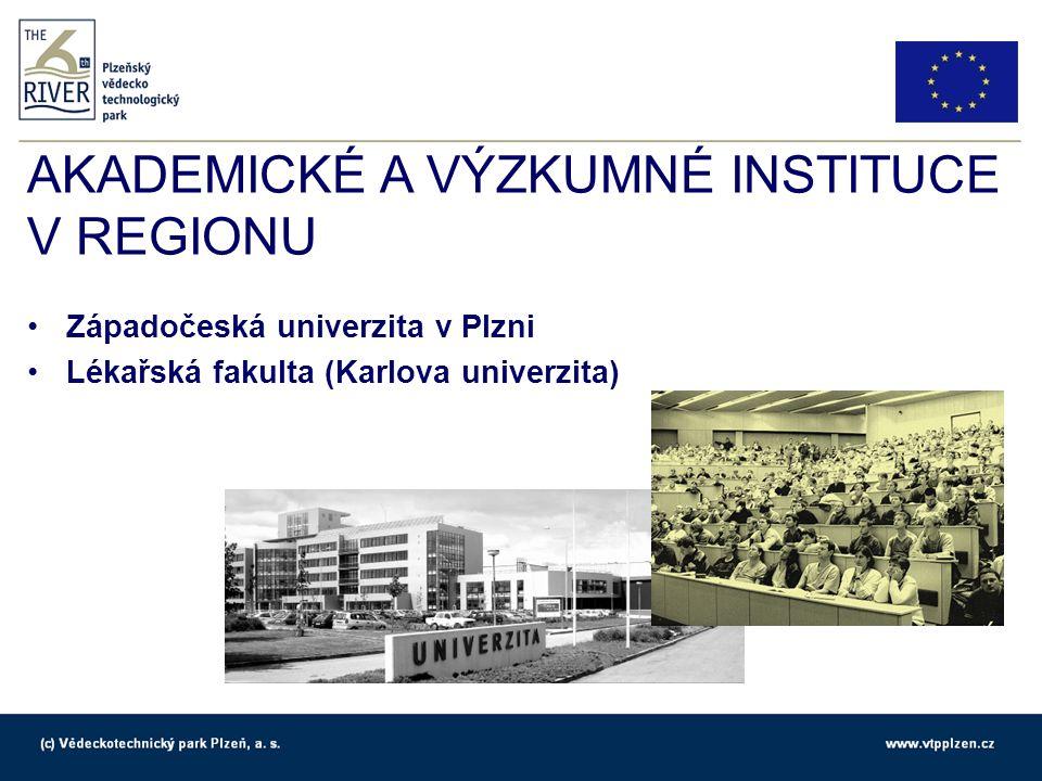 AKADEMICKÉ A VÝZKUMNÉ INSTITUCE V REGIONU Technologická centra: Mercedes-Benz Engineering (MBtech Bohemia) Panasonic European Laboratories Czech Value Engineering Services (ZF)
