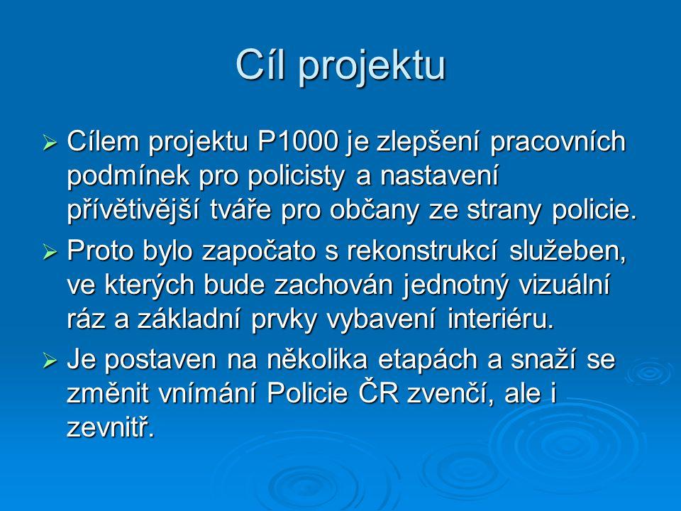 Cíl projektu  Cílem projektu P1000 je zlepšení pracovních podmínek pro policisty a nastavení přívětivější tváře pro občany ze strany policie.