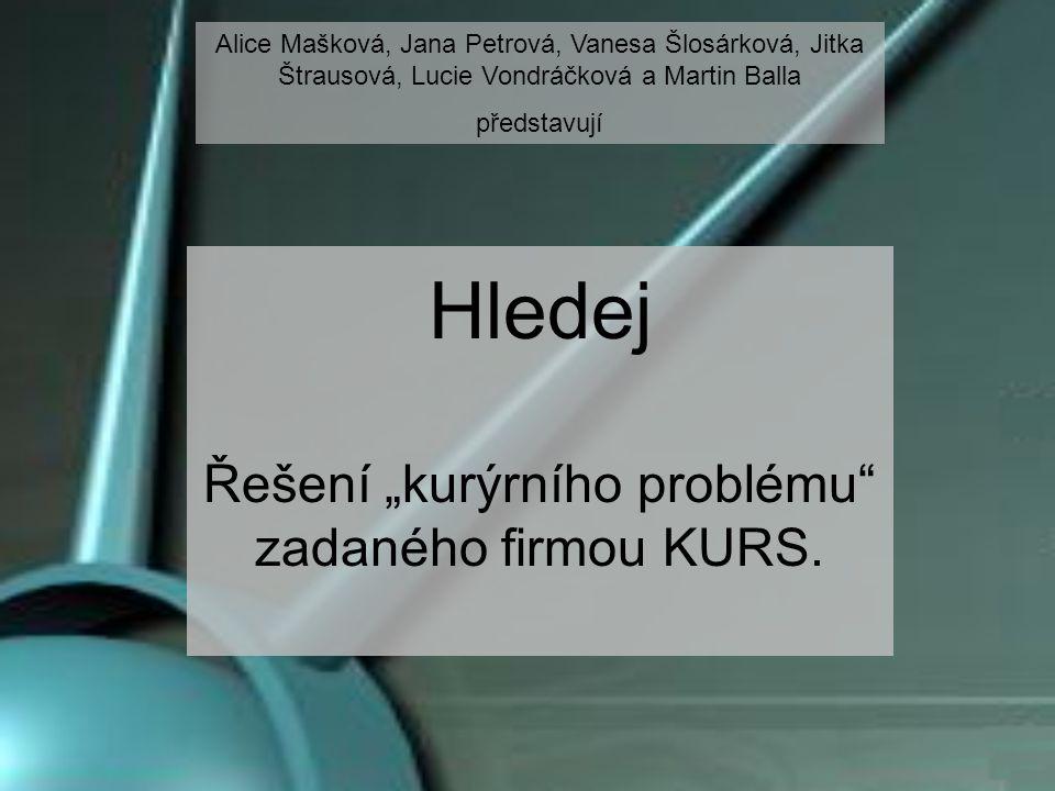"""Hledej Řešení """"kurýrního problému zadaného firmou KURS."""