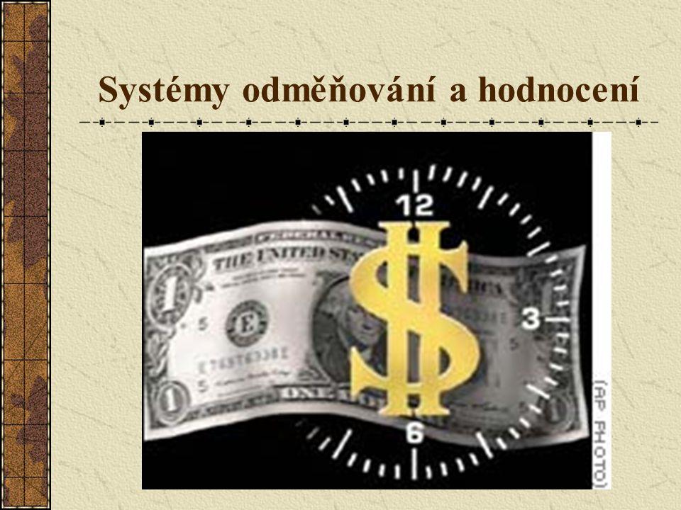 Systémy odměňování a hodnocení