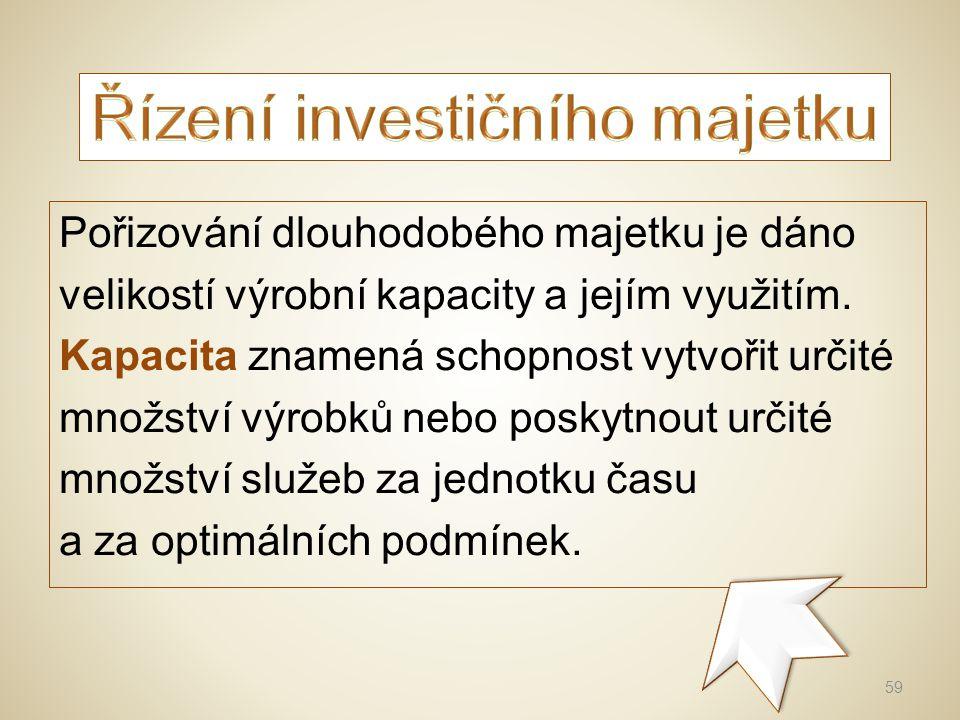 Při pořizování nových investic se posuzuje mimo jiné finanční náročnost a její návratnost.